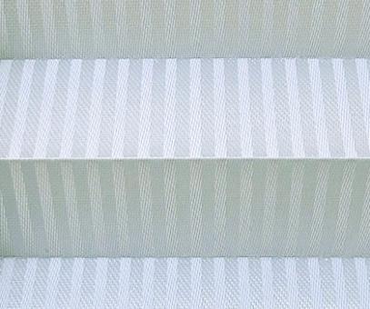 Plissee Isabella silbergrau lichtdurchlässig blickdicht, Linien Muster PG2
