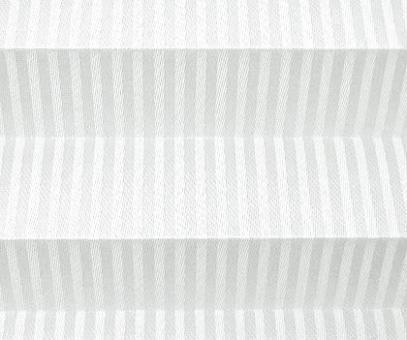 Plissee Loretta weiß lichtdurchlässig blickdicht/Sichtschutz, Linen Design, Seidenglanz PG1