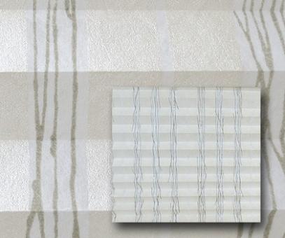 Plissee Isabella silbercreme blickdicht/Sichtschutz/Dekoration, Alu Silberglanz, Linien, PG2
