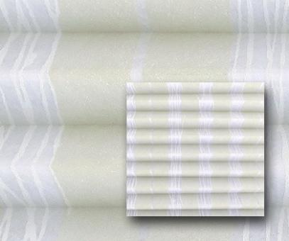 Plissee Isabella silberweiß blickdicht/Sichtschutz/Dekoration, Alu Silberglanz, Linien, PG2