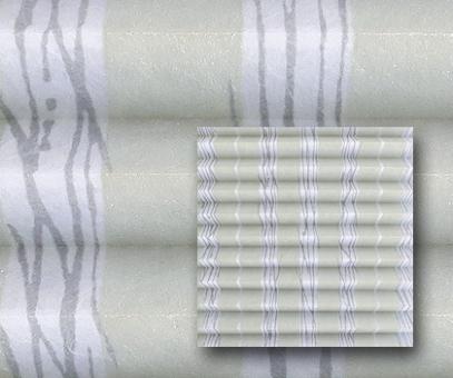 Plissee Isabella silbergrau blickdicht/Sichtschutz/Dekoration, Alu Silberglanz, Linien, PG2
