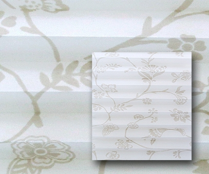 Plissee Donata sandbeige blickdicht/Sichtschutz/Dekoration, Blumen Dekor, PG3