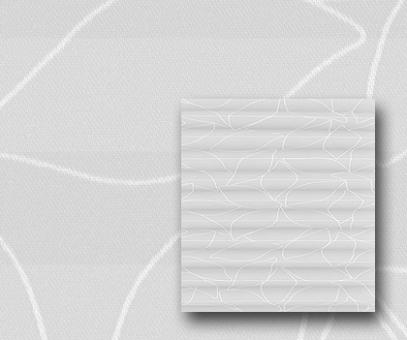 Plissee Donata weiß blickdicht/Sichtschutz/Dekoration, Blatt Muster-Dekor, PG3