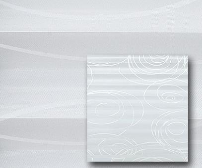 Plissee Donata weiß blickdicht/Sichtschutz/Dekoration, Kreis-Linien Muster-Dekor, PG3