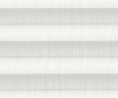 Plissee Isabella weiß lichtdurchlässig blickdicht/Sichtschutz Musterdekor PG2