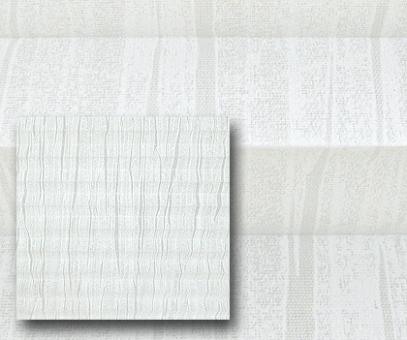 Plissee Donata weiß lichtdurchlässig blickdicht/Sichtschutz. Musterdekor, Dekoration, PG3