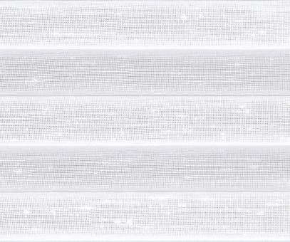 Plissee Loretta weiß transparente Dekoration Nöppchen Struktur PG1