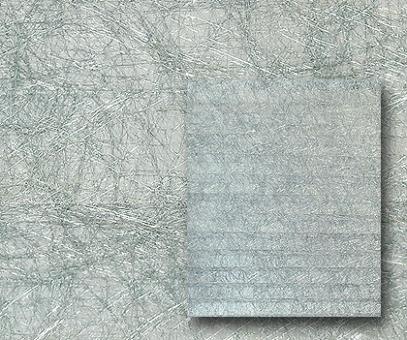 Plissee Donata silber, transparent, Alufaden Struktur, PG3