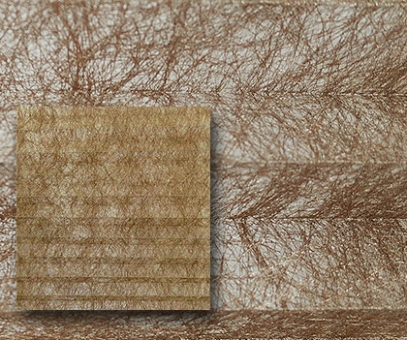 Plissee Donata bronze, transparent, Alufaden Struktur, PG3