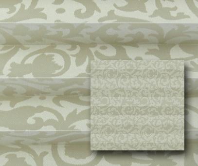 Plissee Donata sandbeige blickdicht/Sichtschutz/Dekoration, Ornamentmuster, PG3