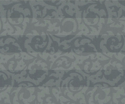 Plissee Donata silbergrau blickdicht/Sichtschutz/Dekoration Ornamentmuster PG3