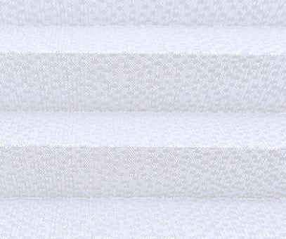 Plissee Isabella weiß, lichtdurchlässig blickdicht, Nöppchen-Look, PG2