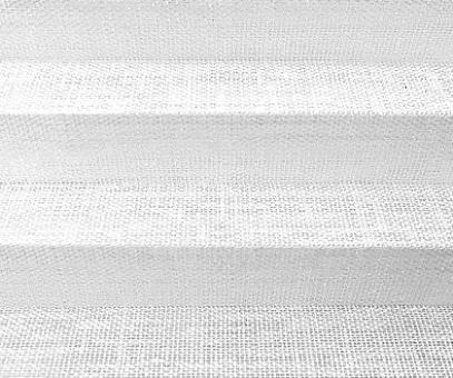 Plissee Vanessa weiß, transparente Dekoration Fenster, Leinen Struktur, PG4