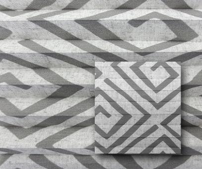 Plissee Donata grau blickdicht/Sichtschutz/Dekoration, Grafik Muster, PG3