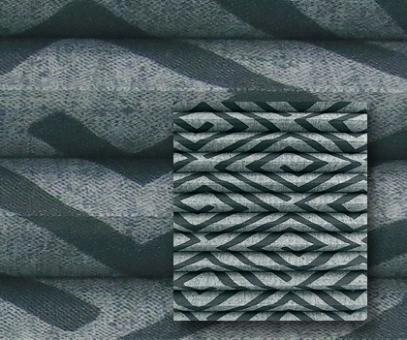 Plissee Donata graphit blickdicht/Sichtschutz/Dekoration, Grafik Muster, PG3