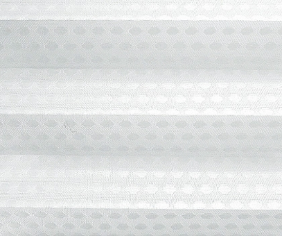 Rollo Donata weiß transparent, Kreis Muster Glanz-Struktur, Dekor Fenster Plissee, PG3