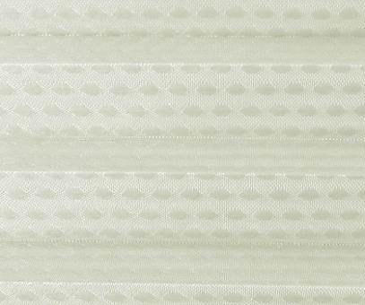 Rollo Donata beige transparent, Kreis Muster Glanz-Struktur, Dekor Fenster Plissee, PG3