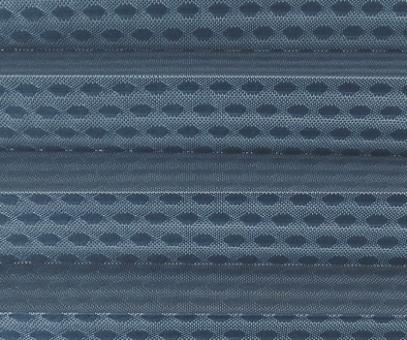 Rollo Donata blau transparent, Kreis Muster Glanz-Struktur, Dekor Fenster Plissee, PG3