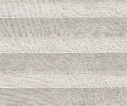 Plissee Donata sand beige lichtdurchlässig blickdicht Brokat Look, PG3