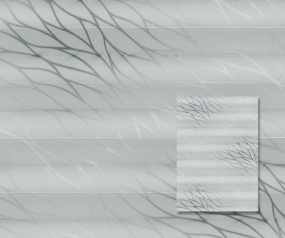 Plissee Donata platin silber blickdicht/Sichtschutz/Dekoration Musterdesign PG3