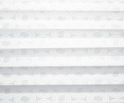 Plissee cosiflor weiß blickdicht/Sichtschutz/Dekoration Kreis-Design PG2