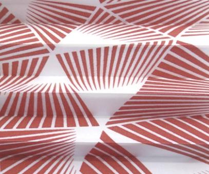 Plissee Donata rot lichtdurchlässig blickdicht/Sichtschutz/Sonnenschutz. Dekor-Musterstoff, PG3