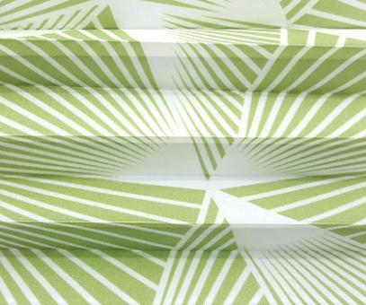 Plissee Donata grün lichtdurchlässig blickdicht/Sichtschutz/Sonnenschutz. Dekor-Musterstoff, PG3