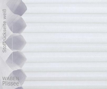 Wabenplissee Isabella weiß licht- durchlässig/blickdicht, Sicht-/ Sonnenschutz, isolierend, PG2