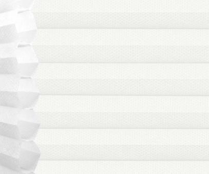 Wabenplissee Isabella weiß lichtdurchlässig/blickdicht Sicht-/Sonnenschutz isolierend PG2