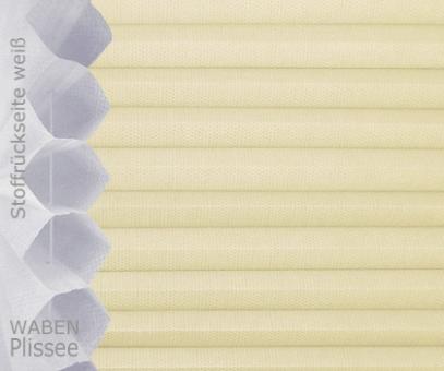Wabenplissee Isabella sandbeige licht- durchlässig/blickdicht, Sicht-/ Sonnenschutz, isolierend, PG2