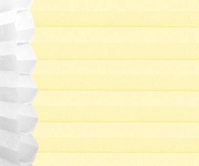 Wabenplissee Isabella pastellgelb licht- durchlässig/blickdicht, Sicht-/ Sonnenschutz, isolierend, PG2