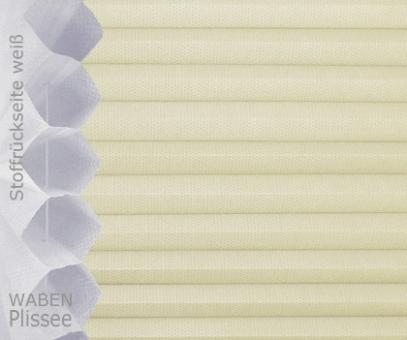 Wabenplissee Isabella helbeige licht- durchlässig/blickdicht, Sicht-/ Sonnenschutz, isolierend, PG2