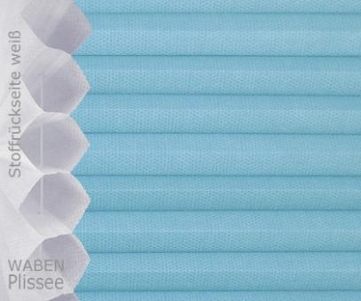 Wabenplissee Isabella hellblau licht- durchlässig/blickdicht, Sicht-/ Sonnenschutz, isolierend, PG2