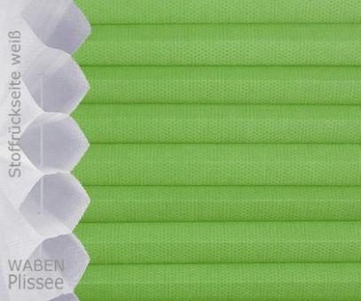 Wabenplissee Isabella grün licht- durchlässig/blickdicht, Sicht-/ Sonnenschutz, isolierend, PG2