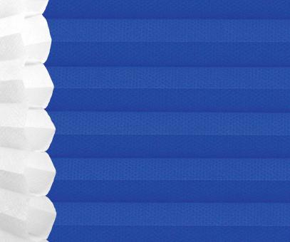 Wabenplissee Isabella blau lichtdurchlässig/blickdicht Sicht-/Sonnenschutz isolierend PG2