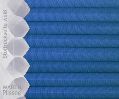 Wabenplissee Isabella blau licht- durchlässig/blickdicht, Sicht- /Sonnenschutz, isolierend, PG2