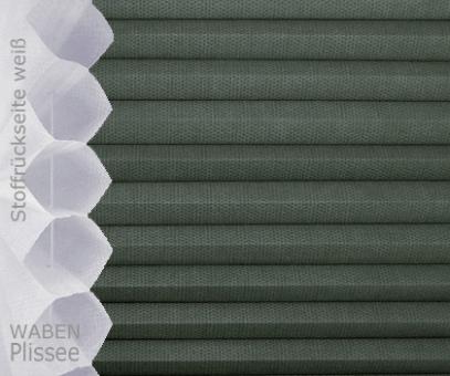 Wabenplissee Isabella anthrazit licht- durchlässig/blickdicht, Sicht-/ Sonnenschutz, isolierend, PG2