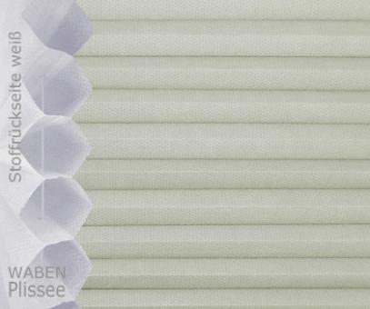 Wabenplissee Isabella kieselgrau licht- durchlässig/blickdicht, Sicht-/ Sonnenschutz, isolierend, PG2
