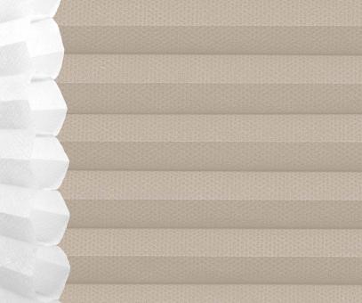 Wabenplissee Isabella sandgrau lichtdurchlässig/blickdicht Sicht-/Sonnenschutz isolierend PG2