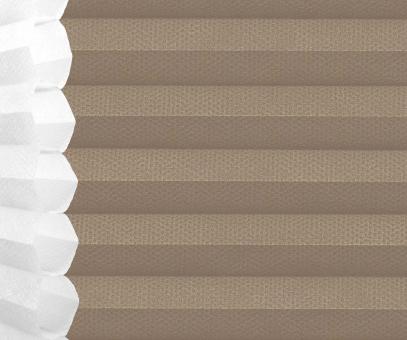 Wabenplissee Isabella graubraun licht- durchlässig/blickdicht, Sicht-/ Sonnenschutz, isolierend, PG2
