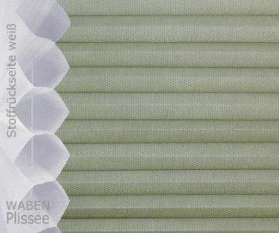 Wabenplissee steingrau lichtdurch- lässig/blickdicht. Sicht-/Sonnen- schutz, isolierend, PG2