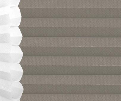 Wabenplissee steingrau lichtdurchlässig/blickdicht Sicht-/Sonnenschutz isolierend PG2