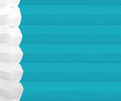 Wabenplissee Isabella türkisblau lichtdurchlässig/blickdicht Sicht-/Sonnenschutz isolierend PG2