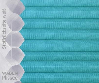 Wabenplissee Isabella türkisblau licht- durchlässig/blickdicht, Sicht-/ Sonnenschutz, isolierend, PG2