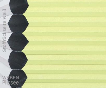 Wabenplissee Vanessa gelbgrün Verdunkelung, Wärme-/Hitzeschutz, isolierend, PG4