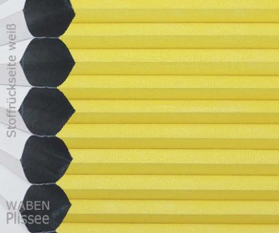 Wabenplissee Vanessa gelb Verdunkelung, Wärme-/Hitzeschutz, isolierend, PG4