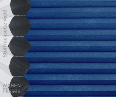 Wabenplissee Vanessa blau Verdunkelung, Wärme-/Hitzeschutz, isolierend, PG4