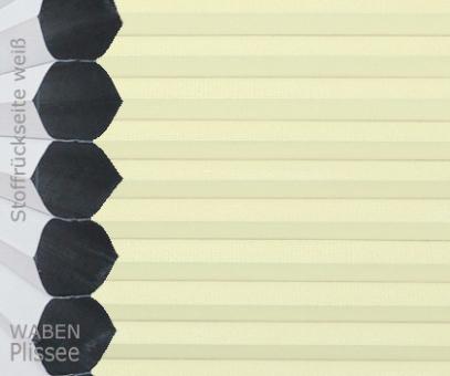 Wabenplissee Vanessa beige-vanille Verdunkelung, Wärme-/Hitzeschutz, isolierend, PG4