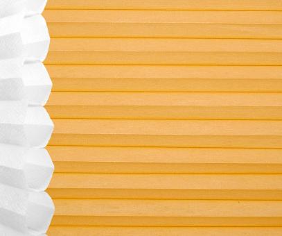 Wabenplissee Isabella gelb lichtdurchlässig/blickdicht Sicht-/Sonnenschutz isolierend PG2