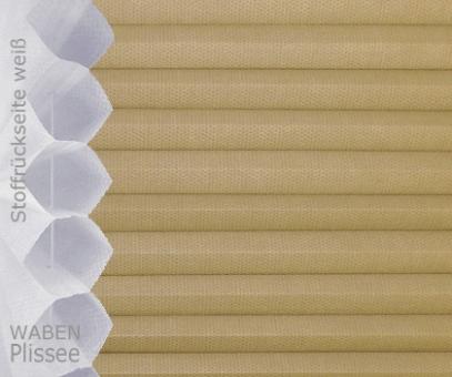 Wabenplissee Isabella hellbraun licht- durchlässig/blickdicht, Sicht-/ Sonnenschutz, isolierend, PG2